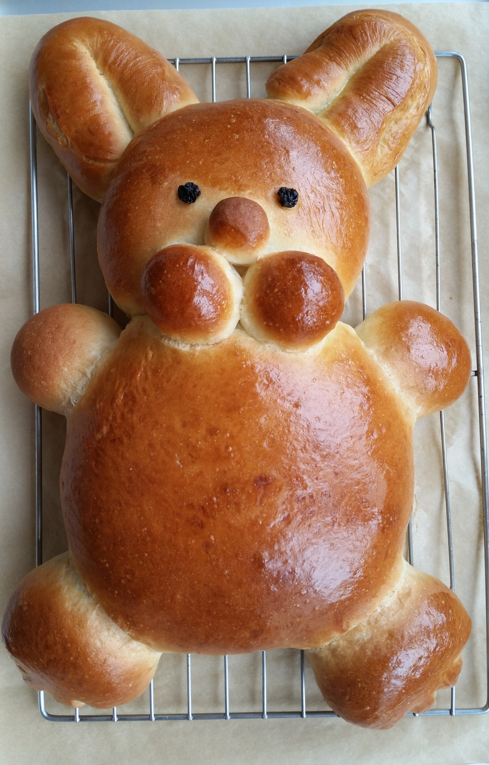 Loaf of Easter Bunny Bread
